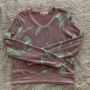 Wildfox baggy beach jumper sweatshirt xs v neck